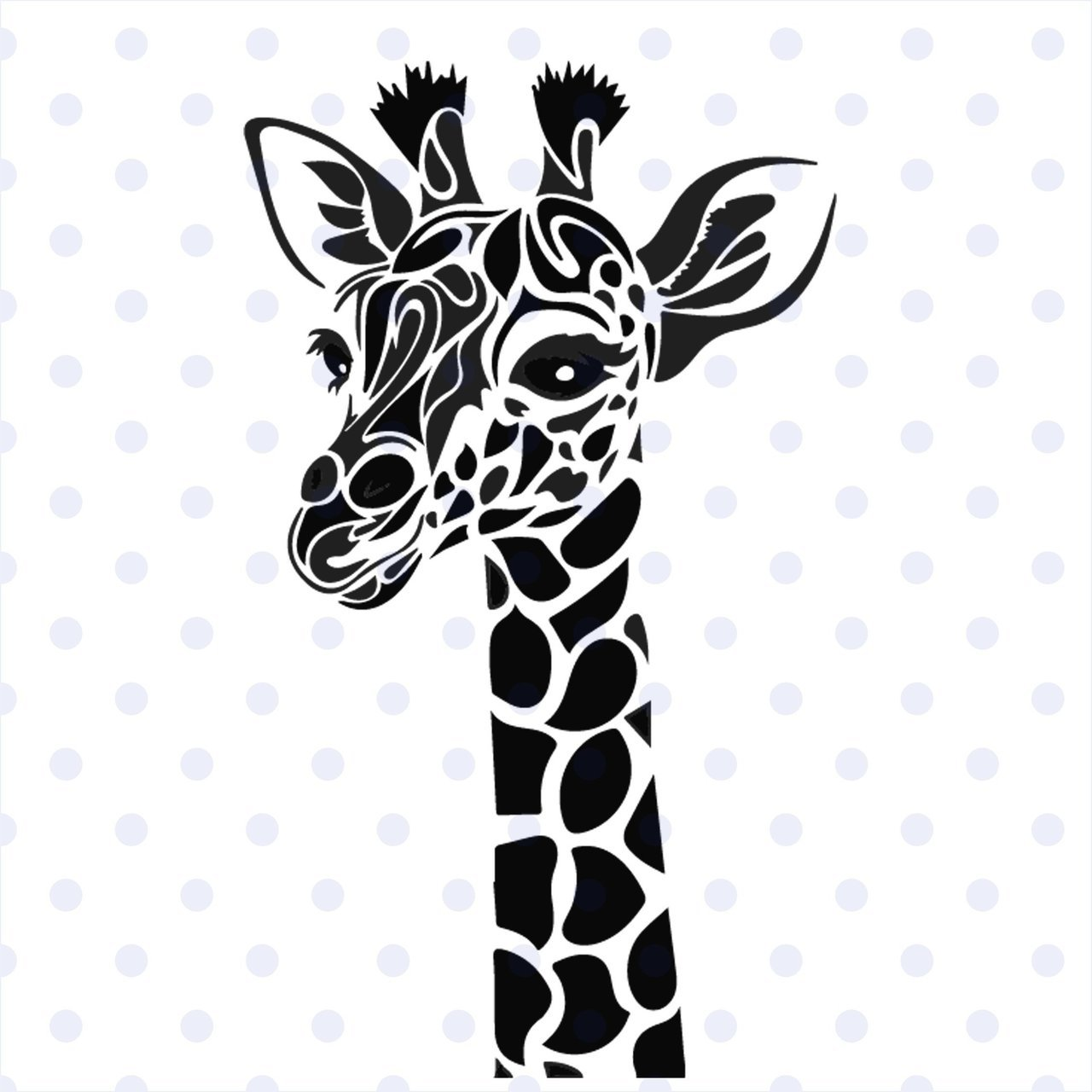 Giraffe svg Animal svg Giraffe clipart Zentangle Giraffe SVG Giraffe  mandala silhouette svg Giraffe shirt SVG DXF eps png pdf.