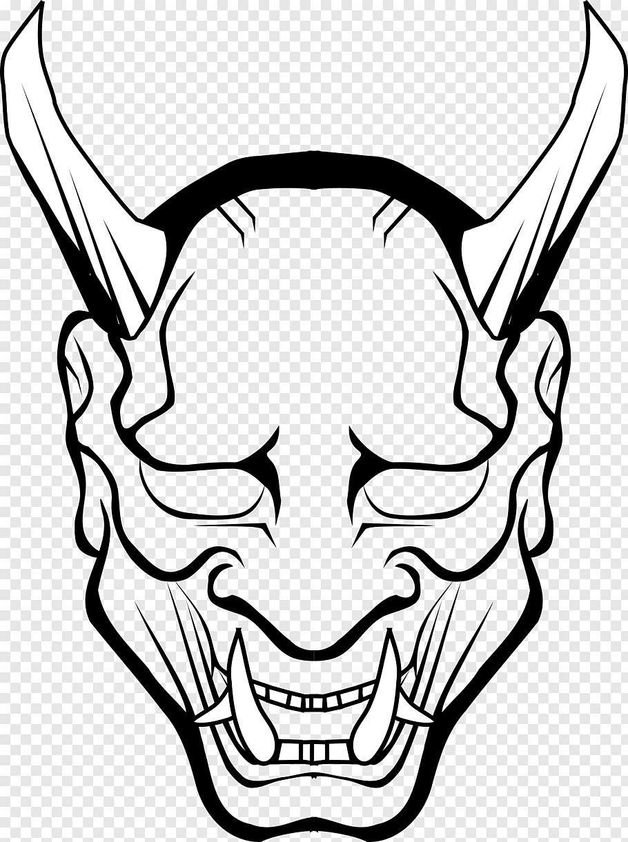 Animal teeth, Lucifer Satan Demon Devil Hell, Oni Mask File.