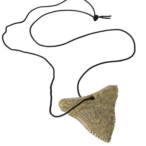 Amazon.com: Shark Tooth Necklace Black/Ivory: Clothing.