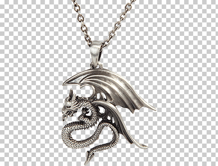 Locket Earring Necklace Jewellery, Dragon necklace PNG.