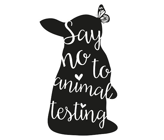\'Say no to animal testing\' Poster by Marjolein Schattevoet.