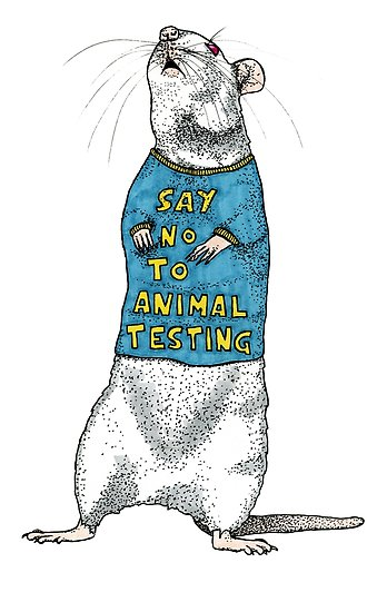 \'Say No To Animal Testing\' Poster by Charlotte Drene.