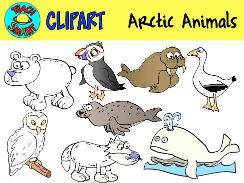 FREEBIE Arctic Animals Clipart Here is a set of 8 PNG images for.
