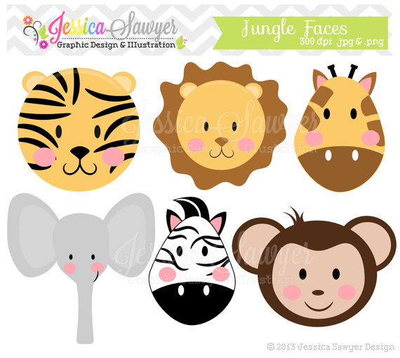 Baby shower jungle theme clip art.