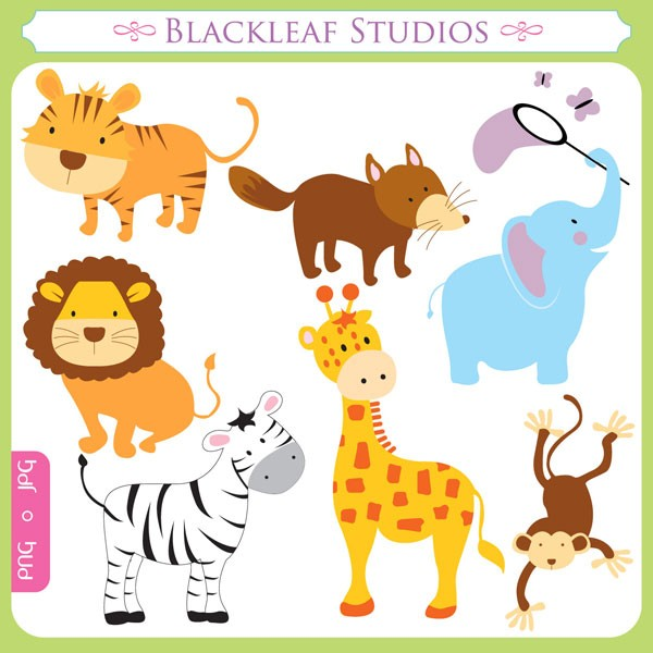 Zoo Animals Photoshop Brushes, Jungle Safari Animals Photoshop.