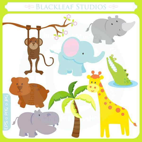 Safari animal theme clipart.