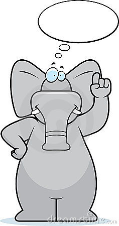 Elephant Thinking Stock Photography.