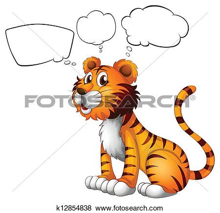 Clip Art of A thinking animal k12854838.