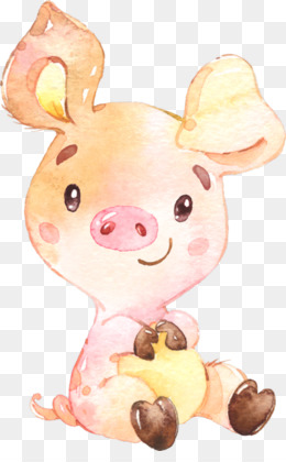 Pig Watercolor PNG and Pig Watercolor Transparent Clipart.