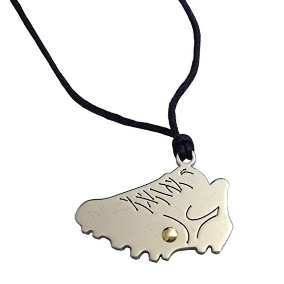 Amazon.com: Stainless Steel with Gold Soccer Shoe Pendant.