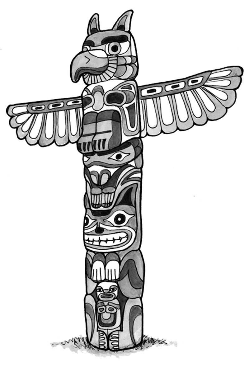 Totem Pole clipart northwest coast indians.