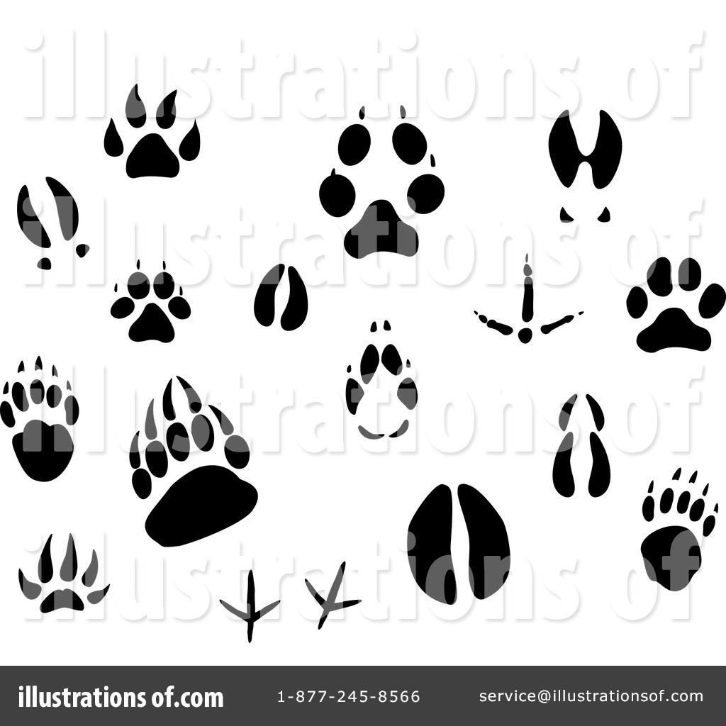 Animal Tracks Clipart.