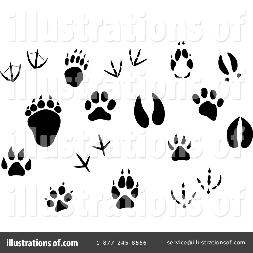 Clip Art Animal Tracks.