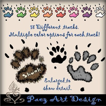Animal Tracks Clipart {Paez Art Design}.