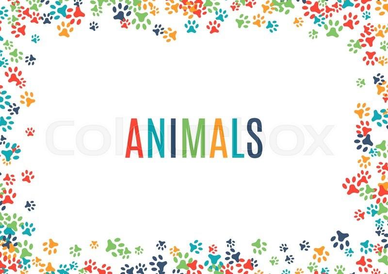 Colorful animal footprint ornament.