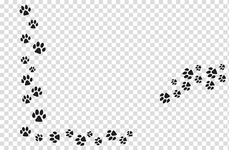Black animal footprint illustration, Dog Pet sitting Cat Paw.