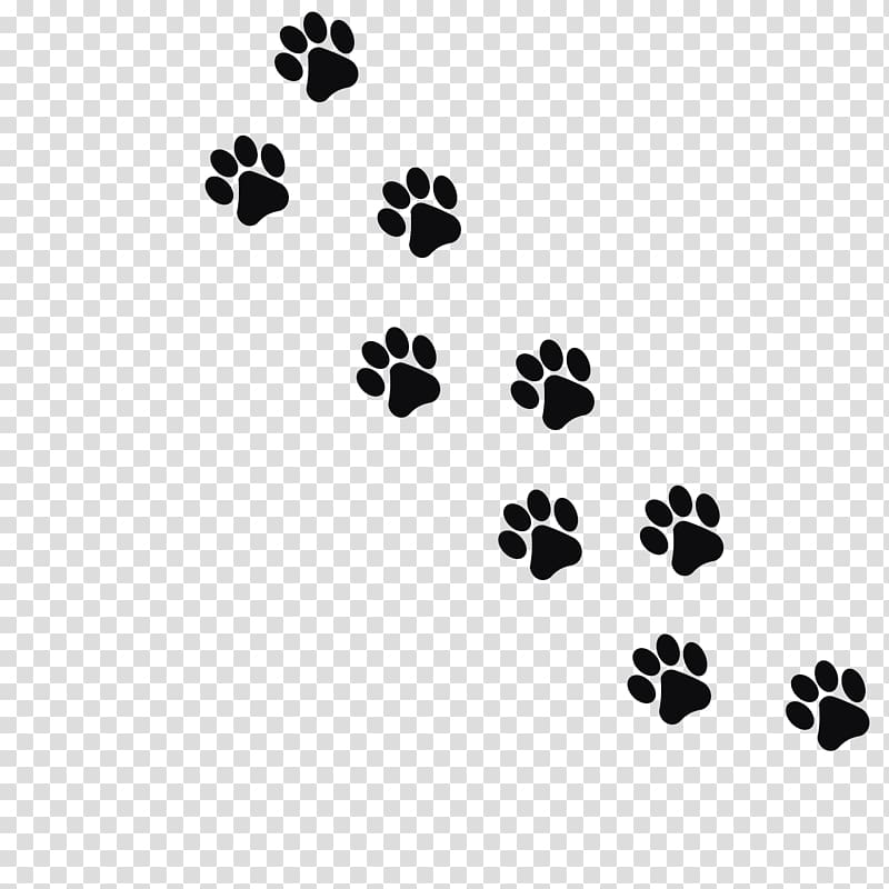 Dog paw prints illustration, Cat Dog Kitten Footprint Paw.