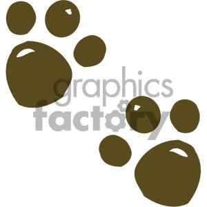 cartoon clipart animal tracks 001 c . Royalty.