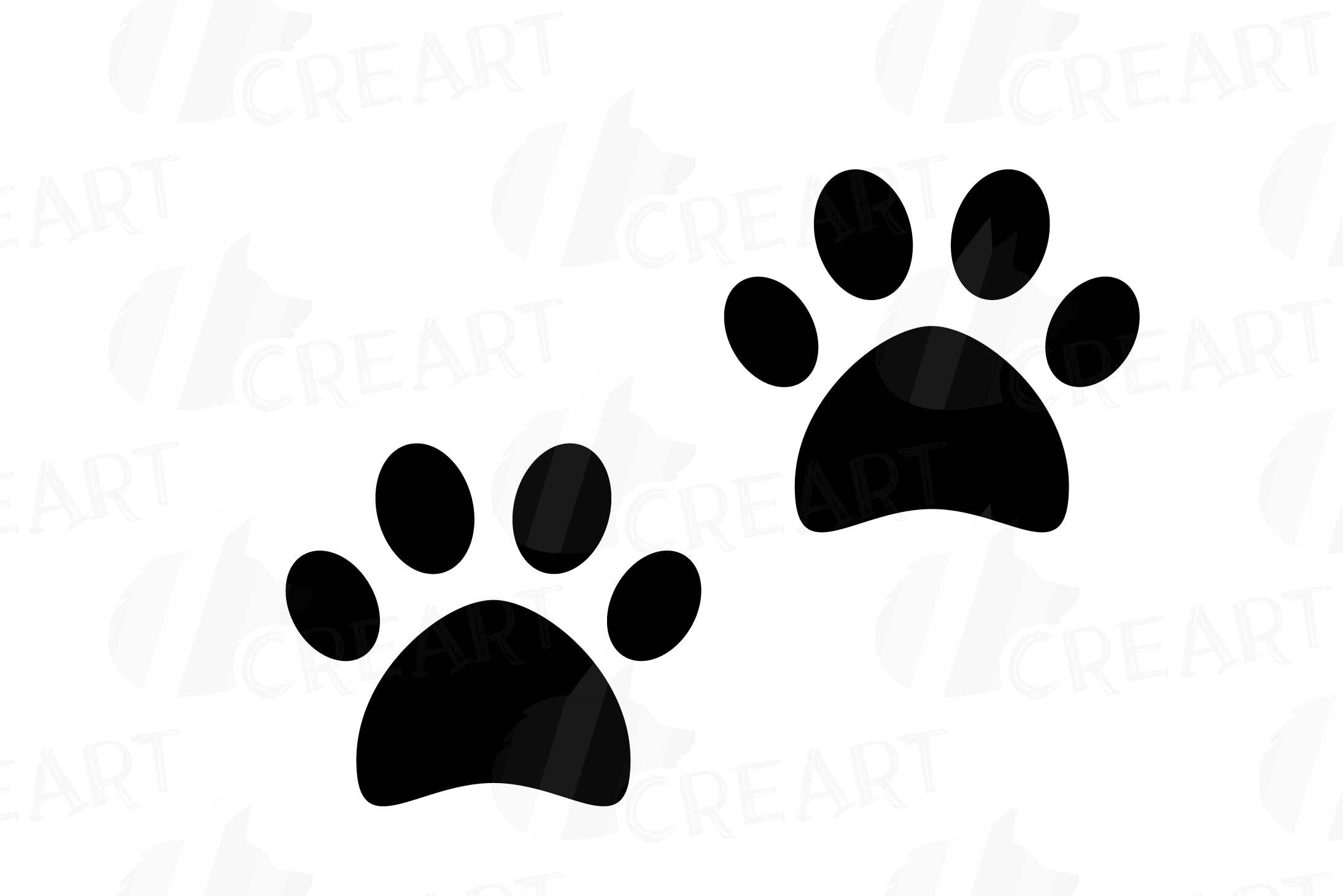 Animal Tracks, Woodland Animals footprints Clipart pack.