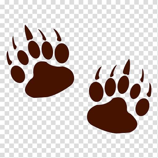 Bear Animal track Footprint , footprint transparent.
