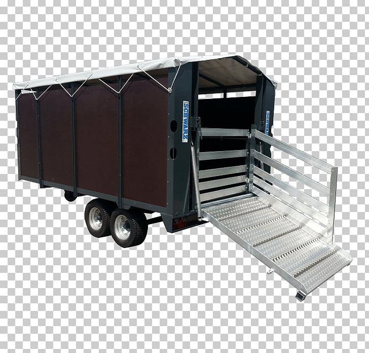 Livestock Transportation Trailer Industrial Design PNG.