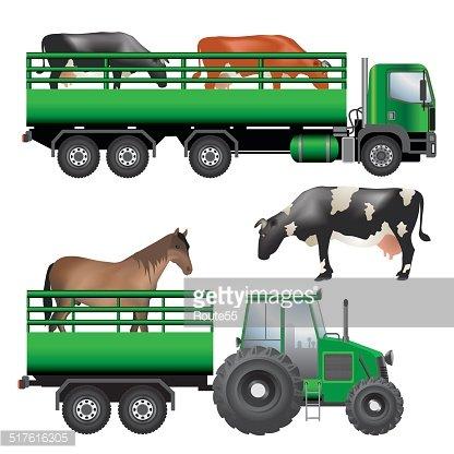 Animal transportation Clipart Image.
