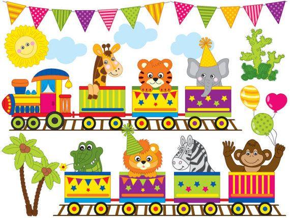 ITEM: Zoo Train #Clipart.