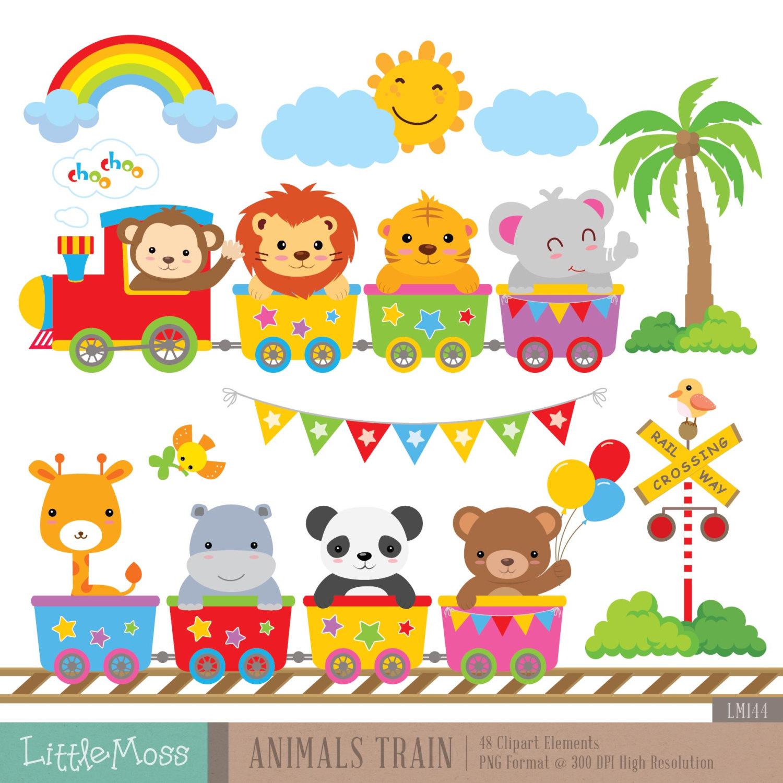Animal Train Clipart.