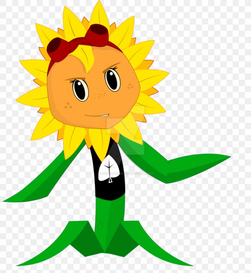 Clip Art Illustration Sunflower M Cartoon Character, PNG.