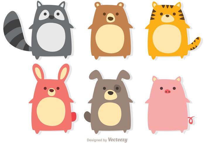Cute Animals Vectors.