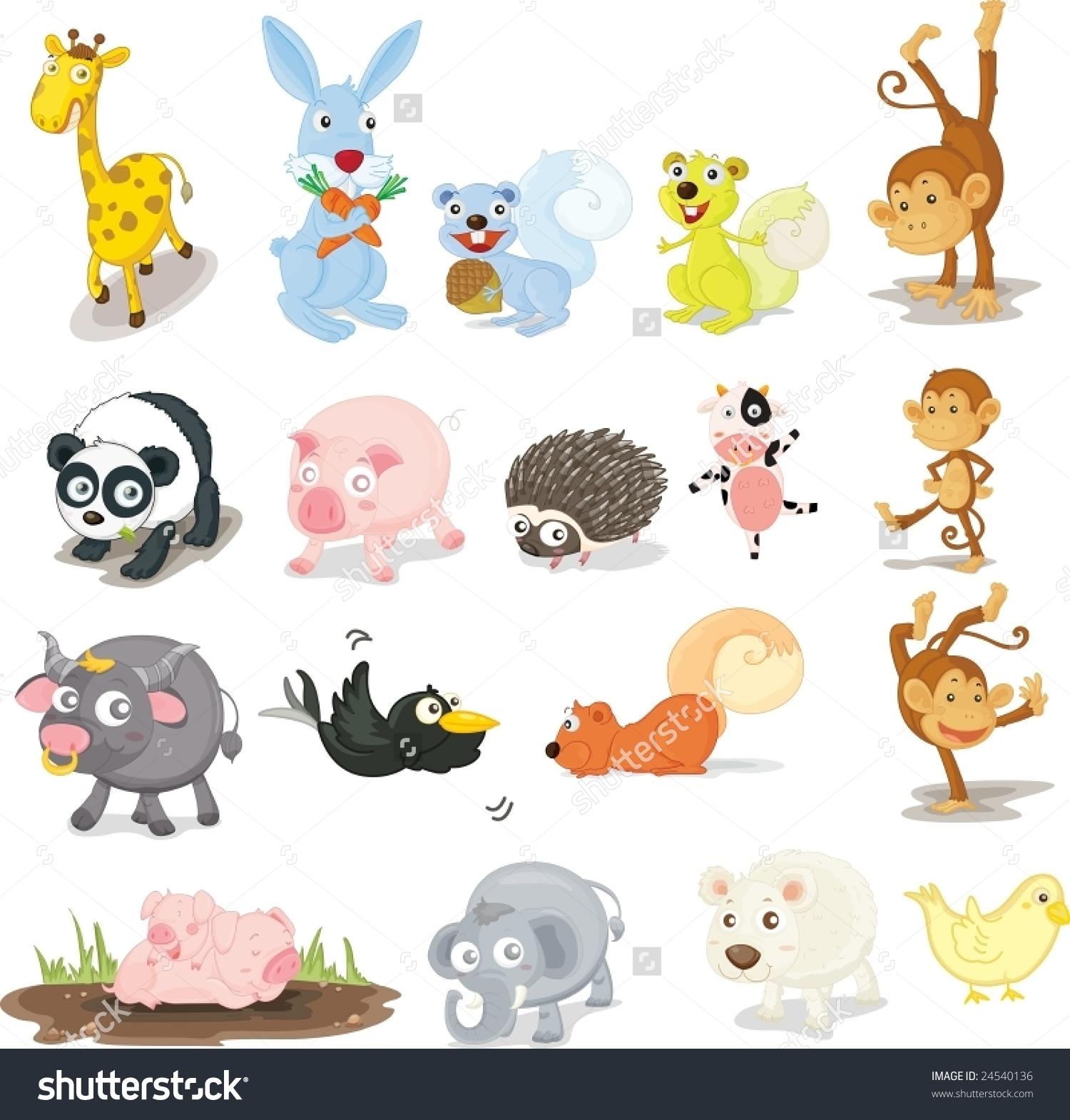 Illustration Variety Animals Stock Vector 24540136.