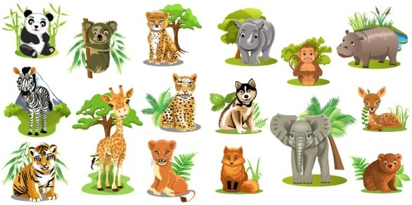 Variety of animal totem vector Free vector in Encapsulated.