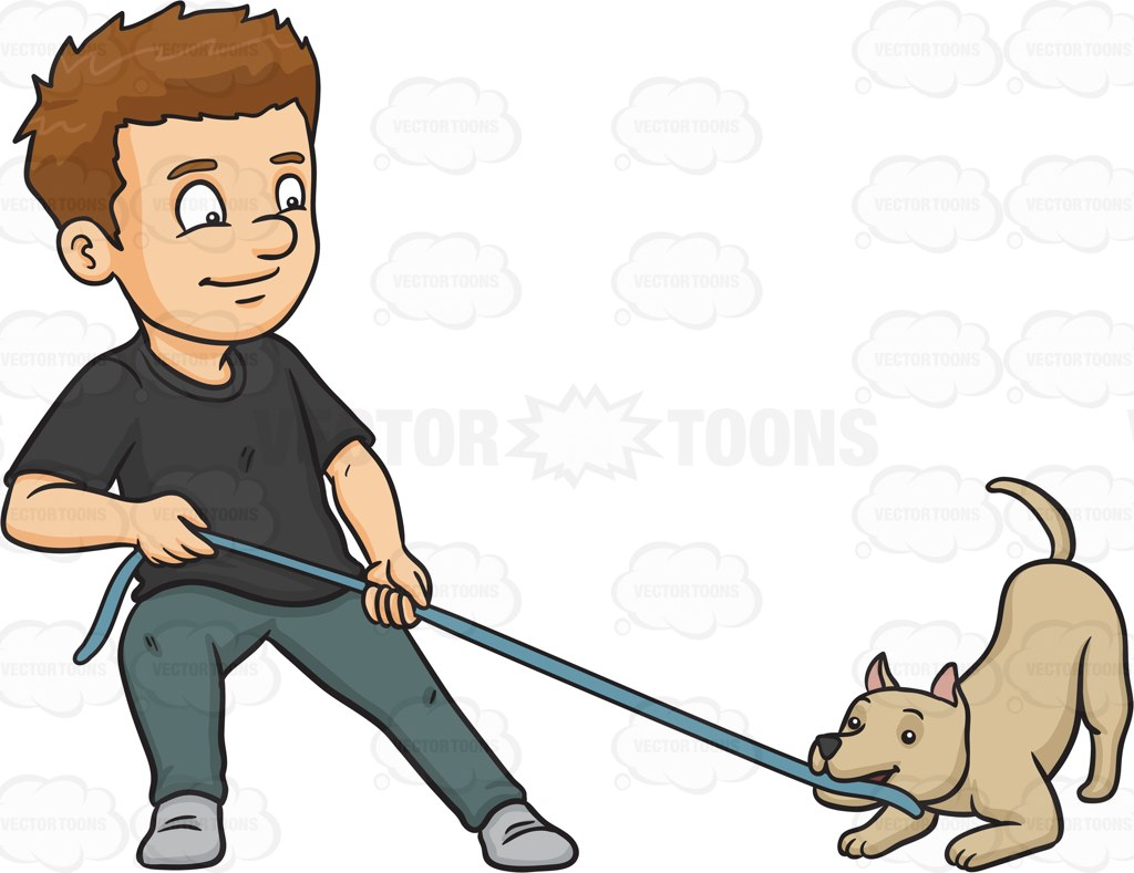 Dog And Man Clipart.