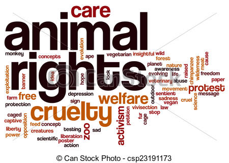 Stock Illustrations of Animal rights word cloud concept.