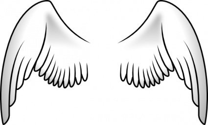 Wings clip art Clipart Graphic.
