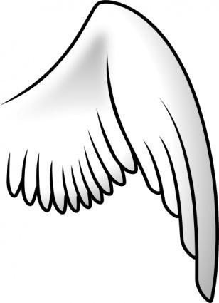 Wing clip art free vector.
