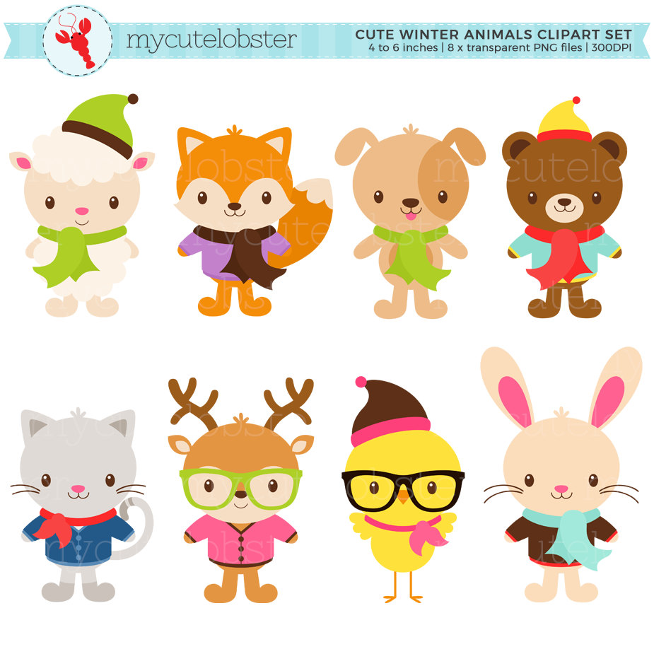 Animals clipart winter, Animals winter Transparent FREE for.