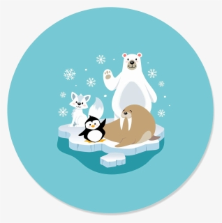 Free Winter Animals Clip Art with No Background.