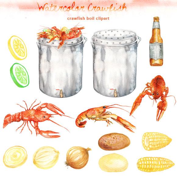 Crawfish clip art.