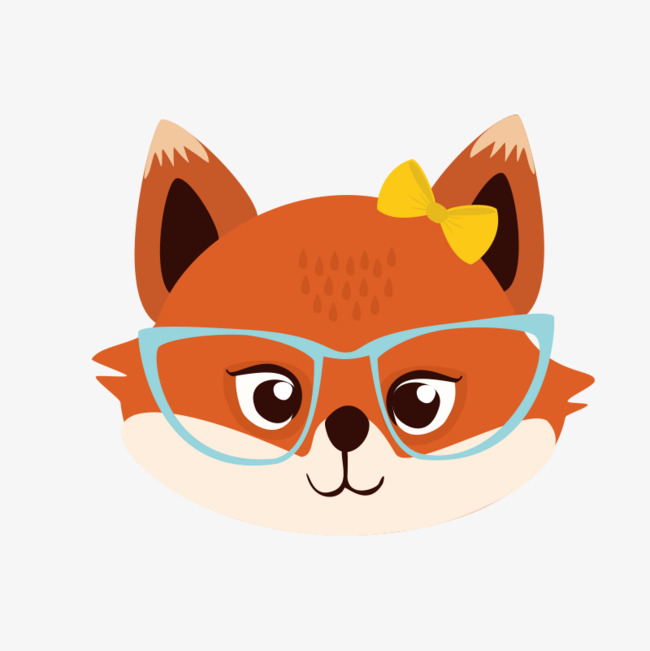 Download Free png Fox With Glasses Png.
