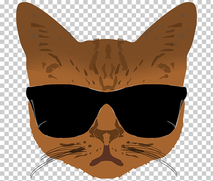 Whiskers Glasses Cat Snout, glasses PNG clipart.