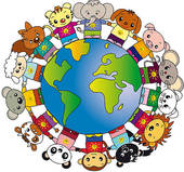 Animal Around The World Clipart.