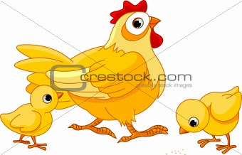 Image 4199728: Hen and chicks from Crestock Stock Photos.