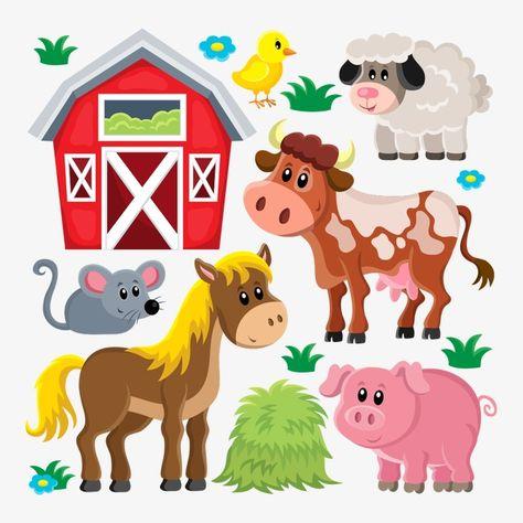Vector Farm Animals, Farm Clipart, Vector Farm, Farm PNG and.