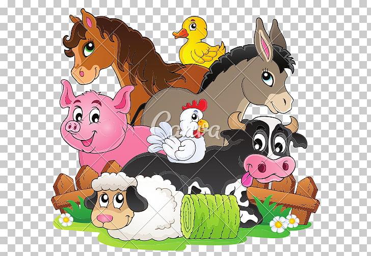 Dibujos animados de animales de granja, animales de granja.