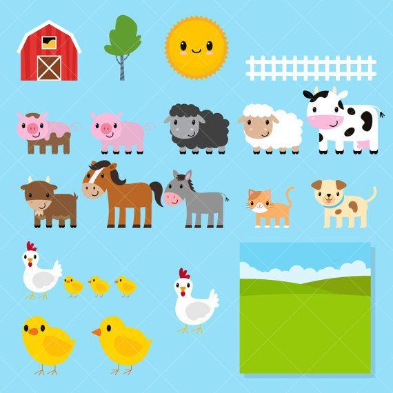 Clipart de animales de la granja / Farm Clip Art / corral.