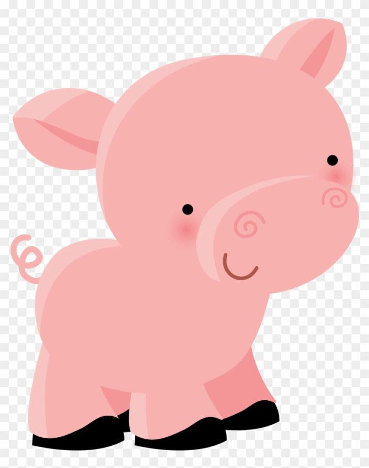Cute Pig Clipart Dibujos Animales De La Granja Png Image.