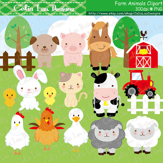 Animales de granja, Imágenes Prediseñadas, Linda granja.