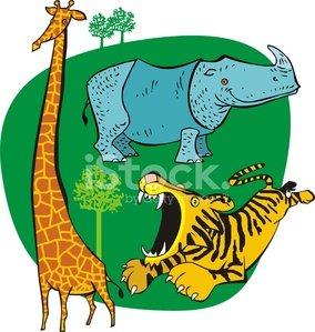 animales salvajes Clipart Image.