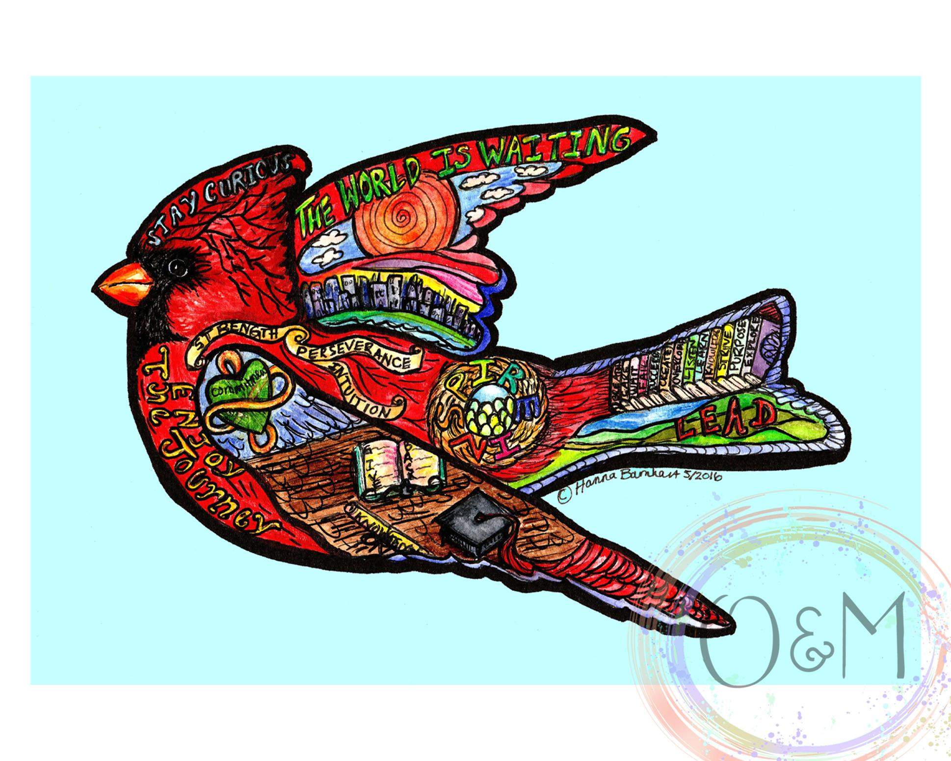 Watercolor Cardinal Art Print.